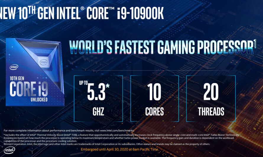 Intel Makes 10th Generation Comet Lake Desktop Processors Official