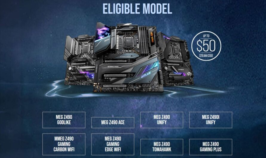 MSI Announces Upgrade Program for Z490 Motherboards