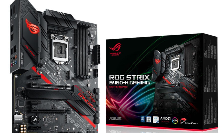 ASUS Outs the ROG Strix B460-H Gaming Motherboard