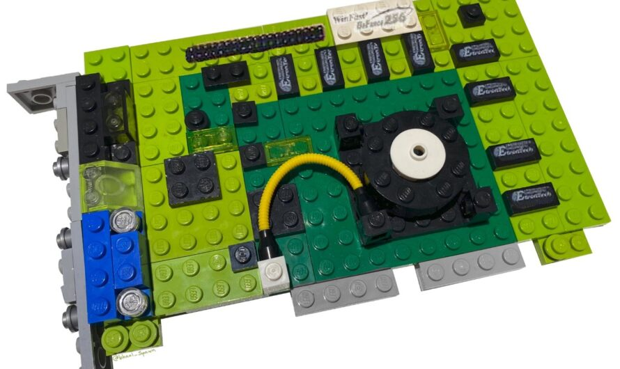 Fan Makes NVIDIA GeForce 256 Out of LEGO's!