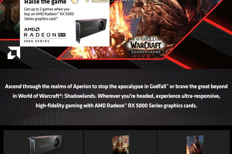 AMD to include Godfall and World of Warcraft: Shadowlands with Radeon RX 5000 series GPUs