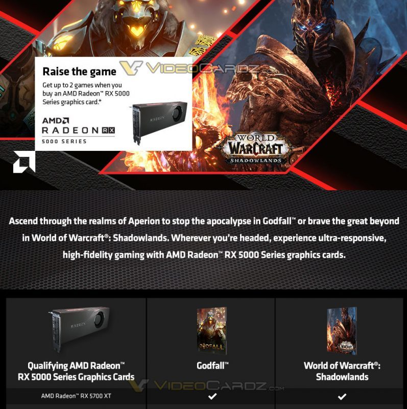 amd-to-include-godfall-and-world-of-warcraft:-shadowlands-with-radeon-rx-5000-series-gpus