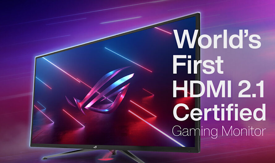ASUS has revealed the World's First HDMI 2.1 Certified Gaming Monitor