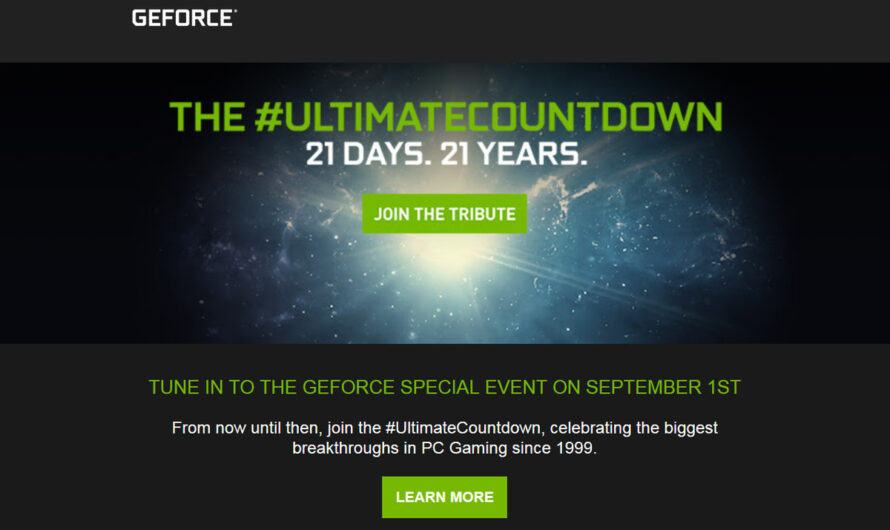 Watch Nvidia's GeForce Special Event with us on September 1!
