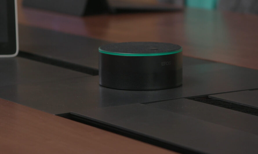 A Microsoft Teams smart speaker moves Cortana to the conference room