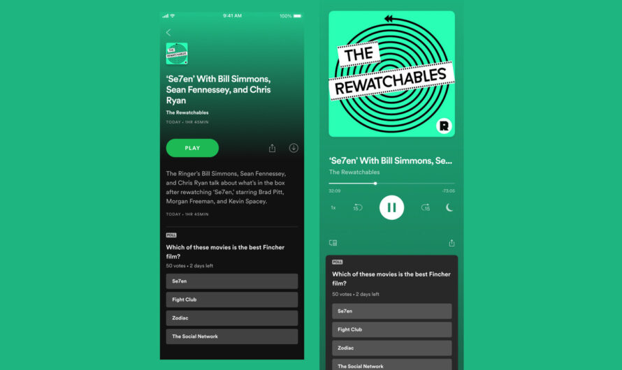 Spotify begins testing in-app polls for podcast episodes
