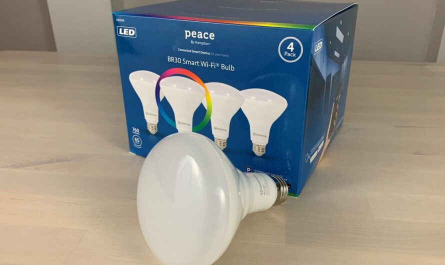 Peace by Hampton BR30 LED Wi-Fi smart bulb review: An affordable color floodlight, if you don't mind getting four