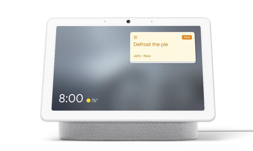 Google smart displays get sticky notes for family members