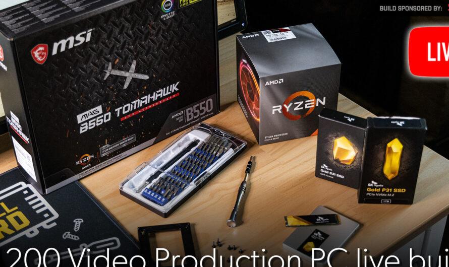 Watch me build a $1,200 video production PC