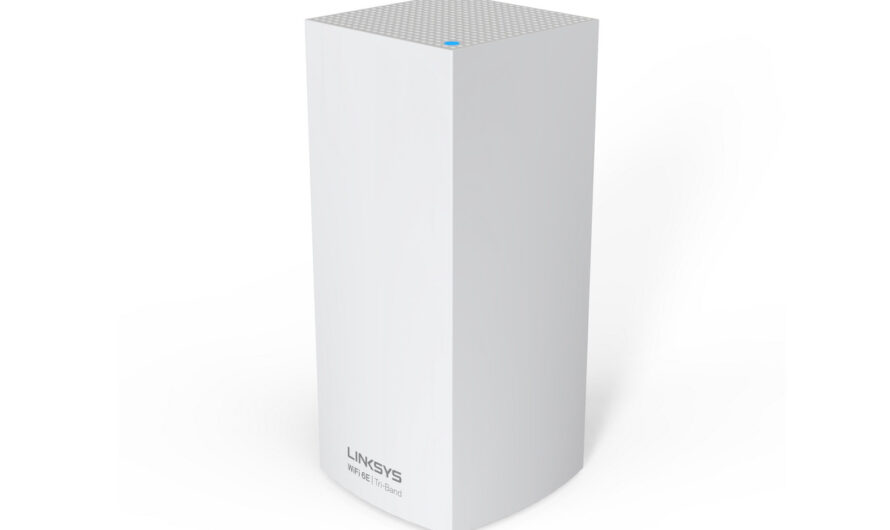 The first Linksys Wi-Fi 6e router is a mesh network model