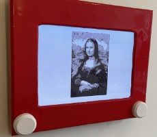 Glorious Jumbo Etch-A-Sketch Is A Raspberry Pi Powered Auto-Drawing Work Of Art