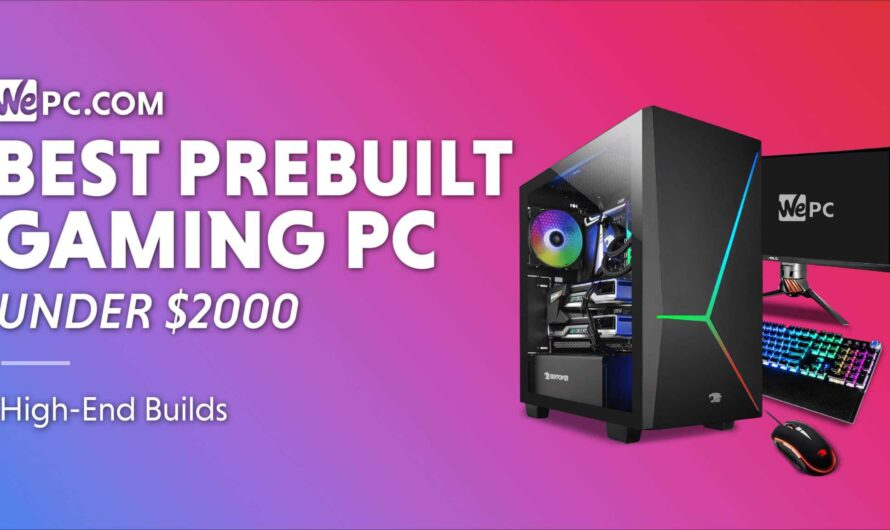 Best Prebuilt Gaming PC Under $2000 in 2021