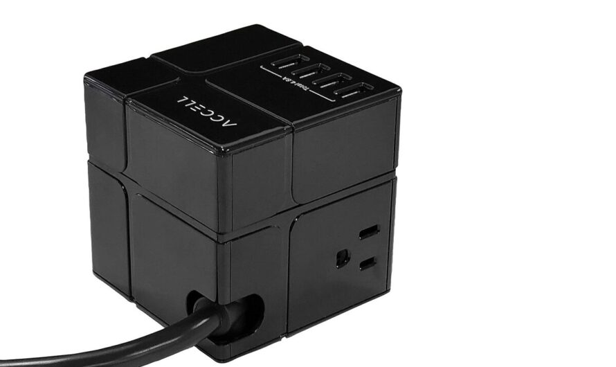 Accell Power Cube review: This minimalist surge protector delivers maximalist USB charging and flexibility