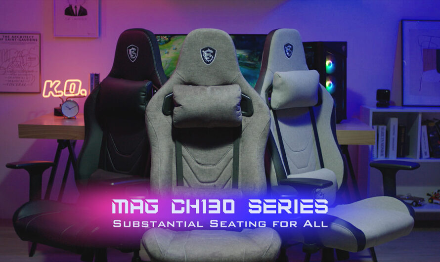 MSI's latest gaming chair promises water and scratch-resistant fabric